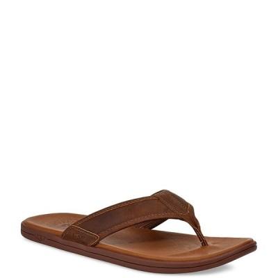 アグ メンズ サンダル シューズ Men's Seaside Leather Flip Flops Luggage