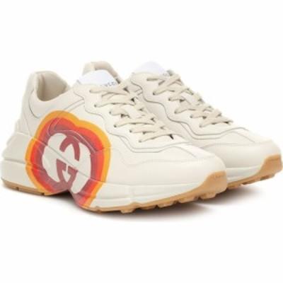 グッチ Gucci レディース スニーカー シューズ・靴 Rhyton leather sneakers Mystic White