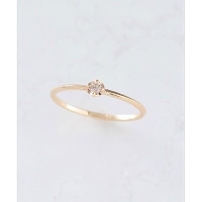 NOIR DE POUPEE / K10 ブラウンダイヤモンド 一粒 リング WOMEN アクセサリー > リング