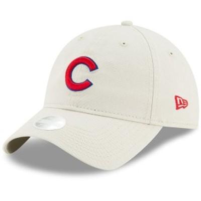 ニューエラ レディース 帽子 アクセサリー Chicago Cubs New Era Women's Stone Core Classic 9TWENTY Adjustable Hat Khaki