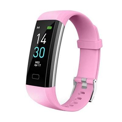 海外取寄品--Vabogu フィットネストラッカー HR 血圧心拍計 歩数計 睡眠モニター カロリーカウンター 振動アラーム 時計 IP68防水 レデ