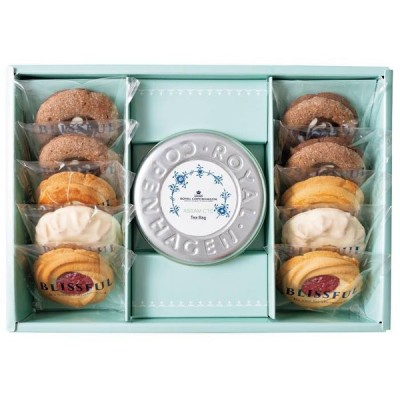 4種の焼き菓子&ロイヤル コペンハーゲン ティーバッグセット11個 (YRC-23) 内祝い 出産内祝い お返し ギフト 結婚内祝い 結婚祝い*o-Y-ad-91011-02*