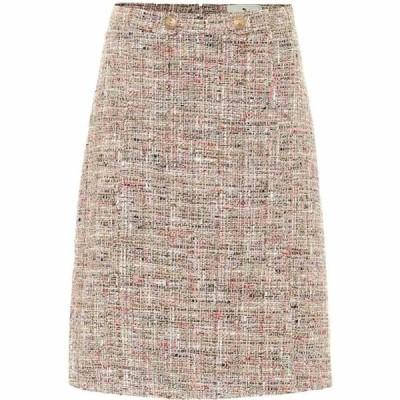 エトロ Etro レディース ひざ丈スカート スカート Tweed cotton-blend A-line skirt