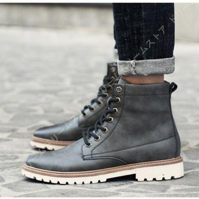 ブーツ メンズ 靴 ショートブーツ 皮靴 オシャレ 紳士靴 メンズ 靴 メンズ靴 ブラック ハイカットブーツ ブーツ カジュアルシューズ カジュアルブーツ 革靴