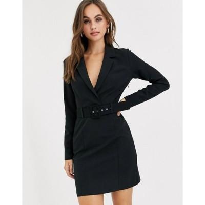 ミスセルフフリッジ レディース ワンピース トップス Miss Selfridge tux dress in black