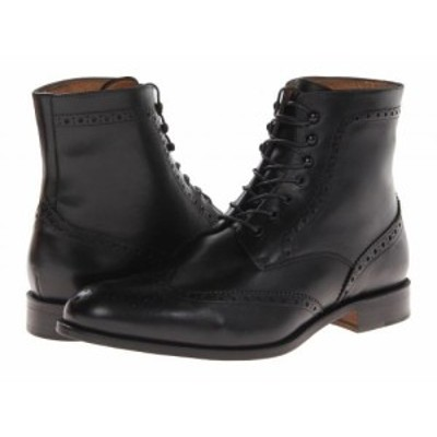Massimo Matteo マッシオマッテオ メンズ 男性用 シューズ 靴 ブーツ レースアップ 編み上げ 7-Eye Wing Boot Black【送料無料】