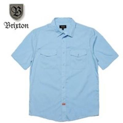 ブリクストン シャツ ランダー ウーブンシャツ ブルー