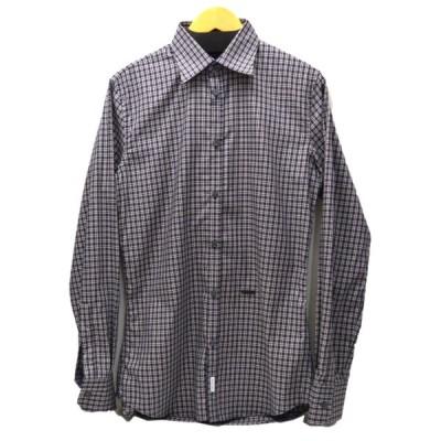 DSQUARED2 チェックシャツ ネイビーxベージュ サイズ:50 (恵比寿店) 200929
