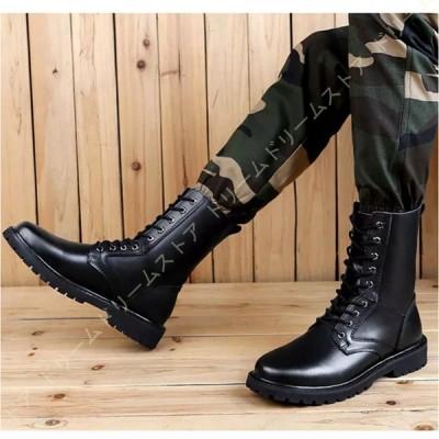 マーティンブーツ メンズ ショートブーツ カジュアル ハイカット革靴 レースアップ レザー 男性用 秋靴 レースアップ オシャレ メンズ靴 ブーツ 靴 滑り止め