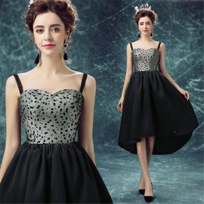 ミニドレス 花嫁ドレス パーティードレス ウェディングドレス カラードレス ショートドレス ワンピース おしゃれ フォーマル お呼ばれドレス 結婚式 ブラック