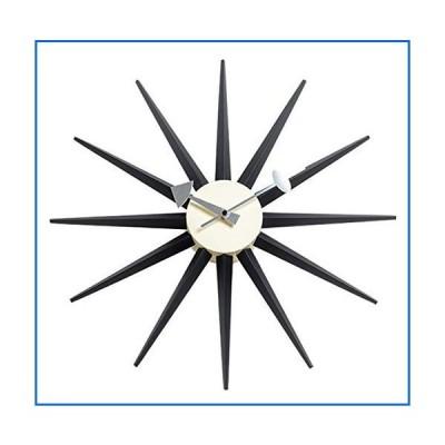SHISEDOCO George Nelson サンバーストクロック ブラック 装飾 モダン サイレント壁時計 自宅 キッチン リビン