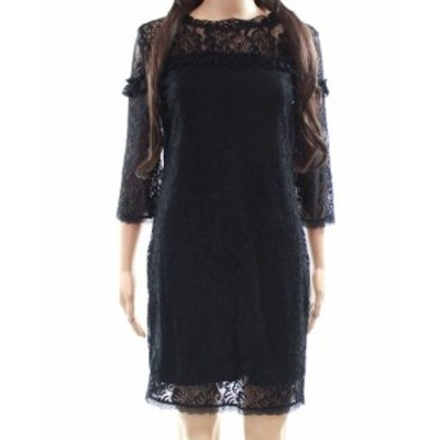 Laundry by Shelli Segal ランドリーバイシェルシーガル ファッション ドレス Laundry by Shelli Segal NEW Black Womens 6P Petite Lace