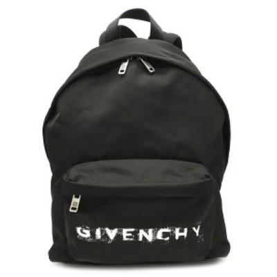 【バッグ】GIVENCHY ジバンシイ ジバンシー バックパック リュックサック ナイロン レザー 黒 ブラック シルバー金具 BK500GK004