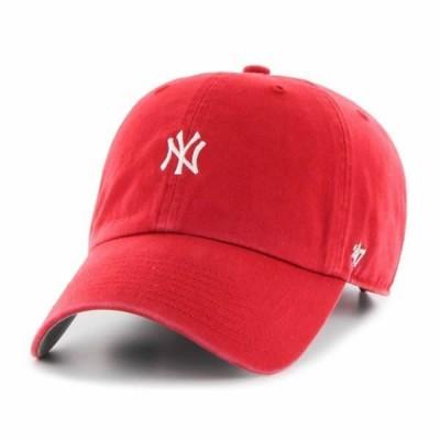 '47 Bland(フォーティセブン)ベースボールキャップ 帽子 キャップ ダッドハット ワンポイント Yankees Base Runner '47 CLEAN UP Red MLB ヤンキース