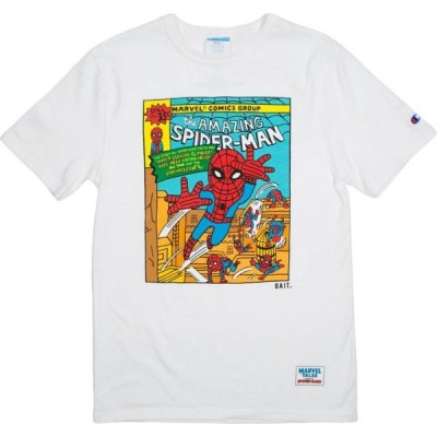 BAIT メンズ Tシャツ トップス x Spiderman x Champion Spiderman Comic Tee white