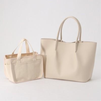 【軽量】通勤通学にも♪インバッグ付A4対応トートバッグ(クーコ/COOCO)