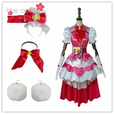 HuGっと!プリキュア キュアマシェリ 愛崎えみる 風  コスプレ衣装  cosplay ハロウィン コスチューム 仮装