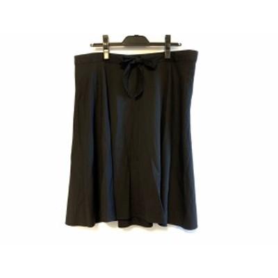 マーガレットハウエル MargaretHowell スカート サイズ2 M レディース - 黒 ひざ丈【還元祭対象】【中古】20200805