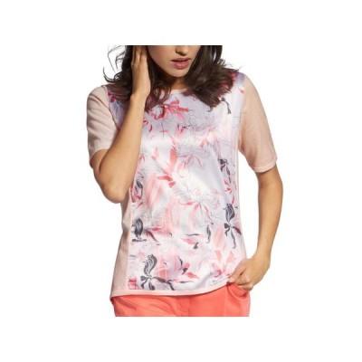 レディース 衣類 トップス Basler Womens Plus Floral Print Mixed Media Top ブラウス&シャツ