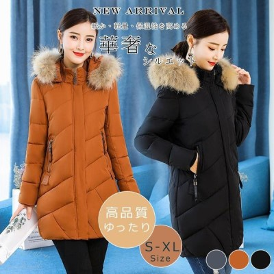 2019秋冬軽量レディースロング中綿ジャケット暖か 大きいサイズ 保温性中綿コート中綿アウターレディース軽量 着痩せ 大きいサイズフード