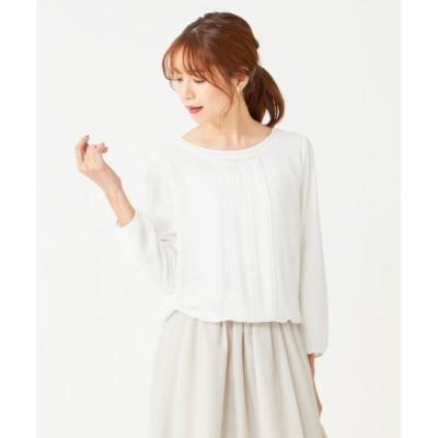 any SiS/エニィスィス 【洗える】フロントプリーツシフォン ブラウス オフホワイト 1