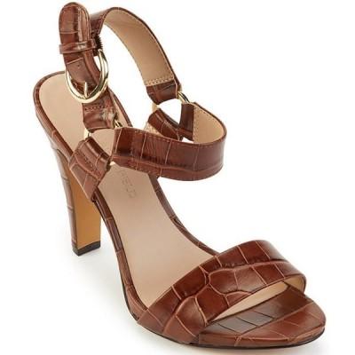 カール ラガーフェルド レディース サンダル シューズ Cieone Croco Print Leather Dress Sandals