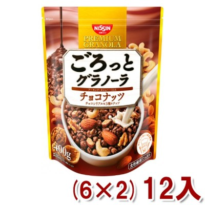 日清シスコ 400g ごろっとグラノーラ チョコナッツ  (6×2)12入 (Y12) 本州一部送料無料