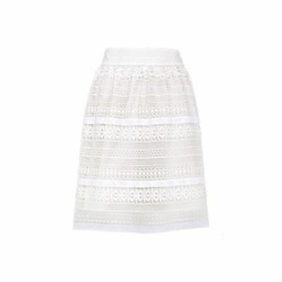 バーバリー Burberry レディース スカート Carwinley lace skirt White
