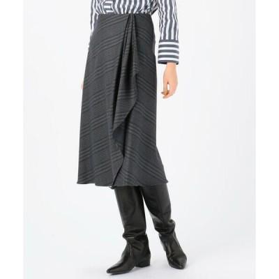 TOMORROWLAND / トゥモローランド マルチグレンチェック アシンメトリースカート