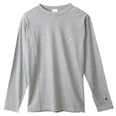 チャンピオン 長袖 Tシャツ メンズ CHAMPION ロンT ベーシック オックスフォードグレー