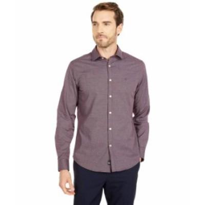 ドッカーズ メンズ シャツ トップス Long Sleeve Slim Fit Supreme Flex Poplin Shirt Bice Winetasting Pattern