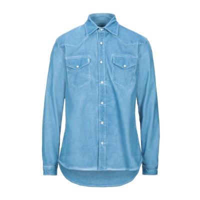 HAIKURE シャツ アジュールブルー L コットン 98% / ポリウレタン 2% シャツ