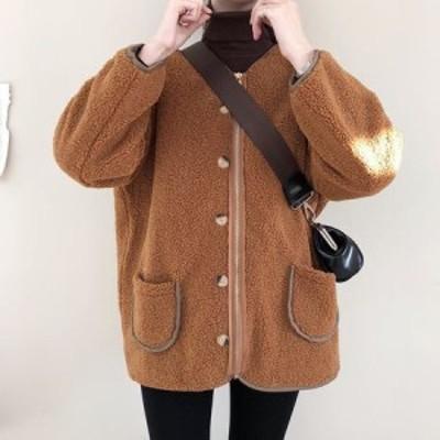 キルティング加工 もこもこ ノーカラージャケット フワモコ 暖か ノーカラー ジャケット 大きめシルエット