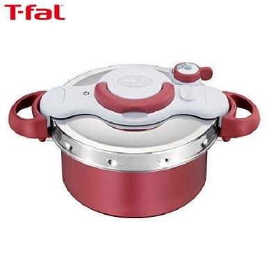 T-fal(ティファール) 圧力鍋 4.2L IH対応 2~4人用 ワンタッチ開閉 2in1 クリプソ ミニット デュオ レッド P4604236