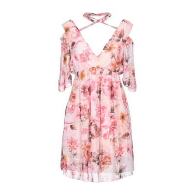 GIORGIA  & JOHNS ミニワンピース&ドレス ピンク L ポリエステル 100% / レーヨン / ポリウレタン ミニワンピース&ドレス
