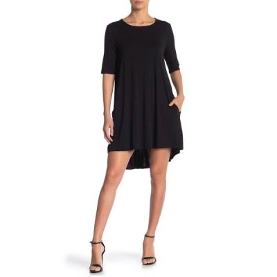 フィロソフィー アパレル レディース ワンピース トップス Elbow Sleeve Knit Swing Dress BLACK