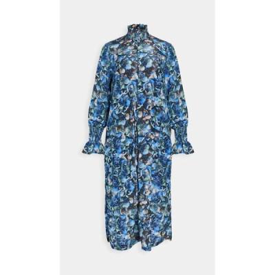 バウム ウンド ヘルガーデン BAUM UND PFERDGARTEN レディース ワンピース ワンピース・ドレス Aeverie Dress Blue Hydrangea