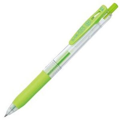 (まとめ) ゼブラ ゲルインクボールペン サラサクリップ 0.4mm ライトグリーン JJS15-LG 1本 【×60セット】