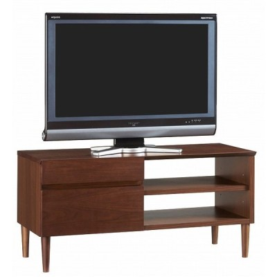 【TVボード】天然木ウォールナット材の レトロでモダンなシリーズ家具 テレビボード テレビ台 ローボード 天然木 無垢材 コーナー 完成品(一部組立て)