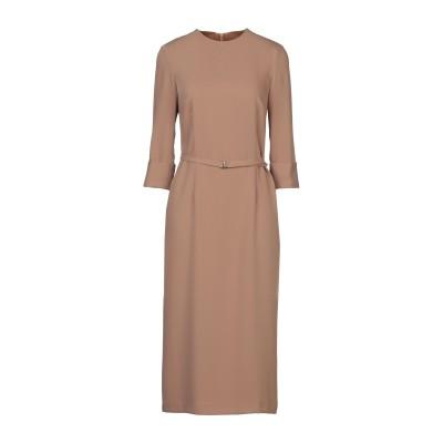 MAISON LAVINIATURRA 7分丈ワンピース・ドレス カーキ 42 ポリエステル 100% 7分丈ワンピース・ドレス