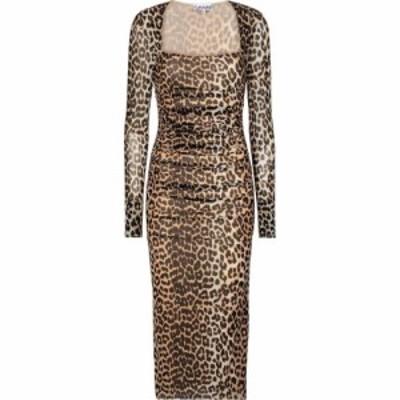 ガニー Ganni レディース ワンピース マキシ丈 ワンピース・ドレス Leopard-print maxi dress Leopared