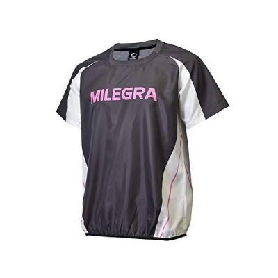 ミレグラ ピステ バレーボール レディース MLTP-PS-012 (L, ダークグレー/ホワイト/ピンク)