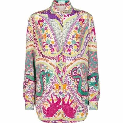 エトロ Etro レディース ブラウス・シャツ トップス Printed silk shirt Multicolor
