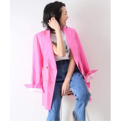 レディース スピック&スパン 【KALLMEYER】 Pointed Lapel Blazer◆ ピンク フリー