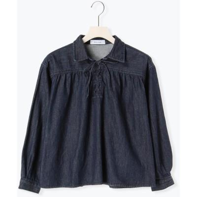 編み上げデニムシャツ