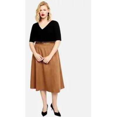 Violeta by Mango レディーススカート Violeta by Mango SUEDI - A-line skirt - brown brown