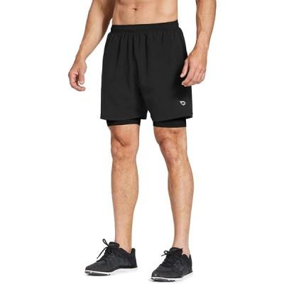 バリーフ(Baleaf) ランニングパンツ メンズ ランパン ジョギング 短パン ランニングショーツ スポーツ ショートパンツ スウェット 吸汗速乾