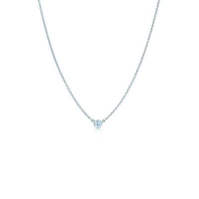 スージレビアン レディース ネックレス・チョーカー・ペンダントトップ アクセサリー 14K White Gold Diamond Solitaire Necklace - 0.25 ctw WHITE
