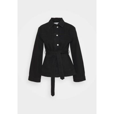 キャリン ウェスター ジャケット&ブルゾン レディース アウター INDOOR YVIS - Denim jacket - black