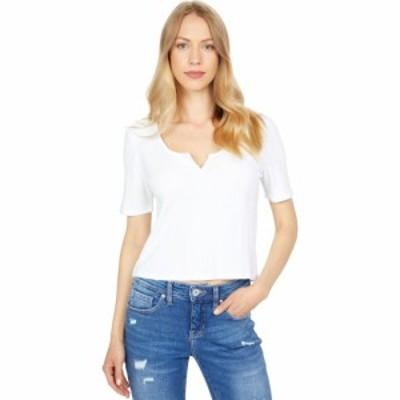 ラッキーブランド Lucky Brand レディース Tシャツ トップス Short Sleeve Slim Notch Neck Tee Bright White